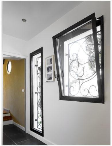 Lumière naturelle fenêtre aluminium