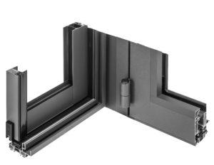 angle de fenêtre aluminium de véranda