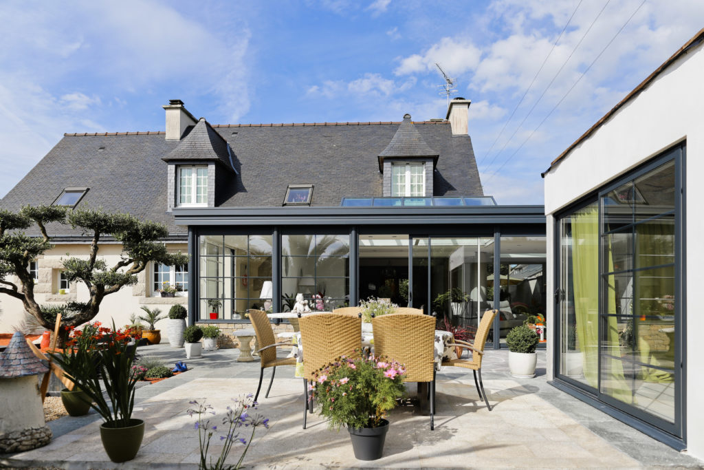 maison avec véranda aluminium